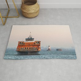 Lighthouse & Staten Island Ferry Rug
