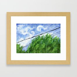 Tress, Wind and Cables Framed Art Print