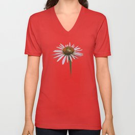 coneflower & bee postale Unisex V-Neck