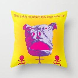 Try not to Judge Throw Pillow