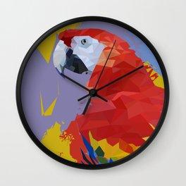 Parrot Macaw Digital Art Print Wall Clock