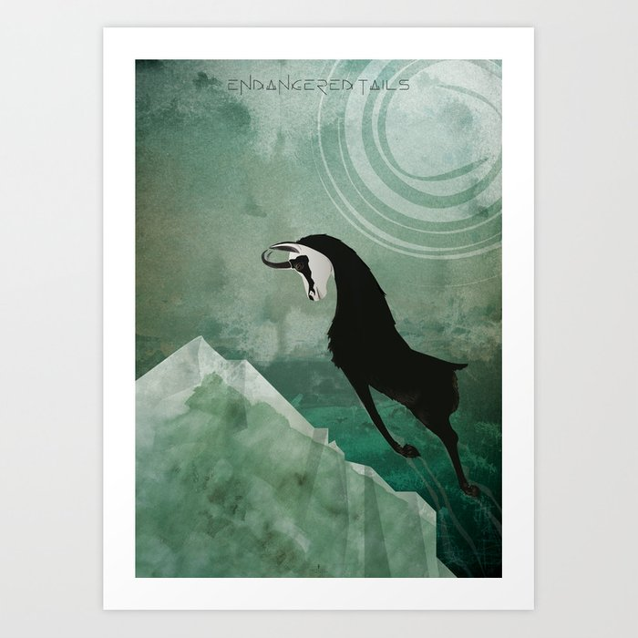 Endangered Tails-The Chamois Art Print