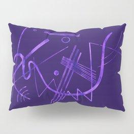 Kandinsky - Purple Abstract Art Pillow Sham