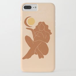 The Sun, The Moon and a Woman iPhone Case