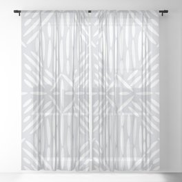 Angled Lines Sheer Curtain