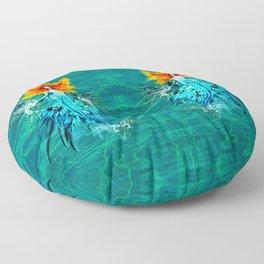 Siren splash Floor Pillow