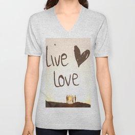 Live Love Unisex V-Neck
