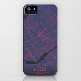 Laval, Canada - Neon iPhone Case