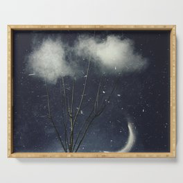 Tree In Clouds Serving Tray