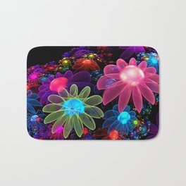 3D Color Flowers V2 Bath Mat