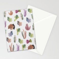 tropical leaves color Stationery Cards