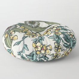 Australian Native Floral Floor Pillow