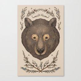 The Bear and Cedar Canvas Print