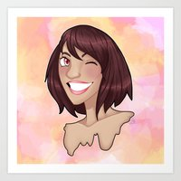 risa rodil Art Prints featuring Risa by Laura Monaghan Illustration
