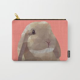 Peanut Bunny the Rabbit Polygon Art Carry-All Pouch
