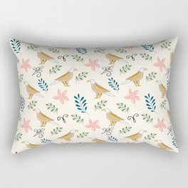 Eagle in the Garden #pattern Rectangular Pillow