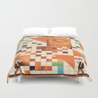 poem Duvet Covers featuring Orange poem by Mariano Peccinetti