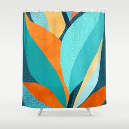 Abstract Tropical Foliage Shower Curtain