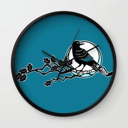 Crow and Oak Wall Clock
