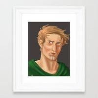 neil young Framed Art Prints featuring Neil by Alejandra Gonzalez