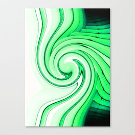 iDeal - Mirrored Illusions - Green Canvas Print