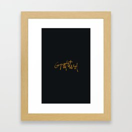 Gratitud Framed Art Print