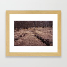 Earth Gullies Framed Art Print