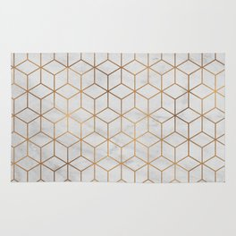 Marbled Copper Cubes Rug