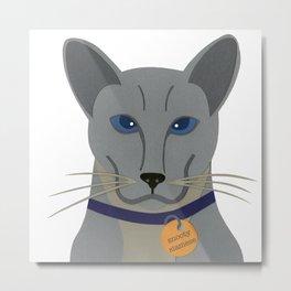 Cheeky Siamese Cat Metal Print