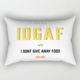 I dont give away food Rectangular Pillow