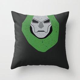 Dr. Doom - Foot Dive Throw Pillow