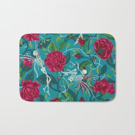 Death of Summer (carmine and blue) Bath Mat