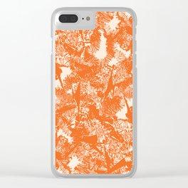 Minimal Shapes Peach Orange Skintones Abstract Pattern Digital Art Print Art Print Clear iPhone Case