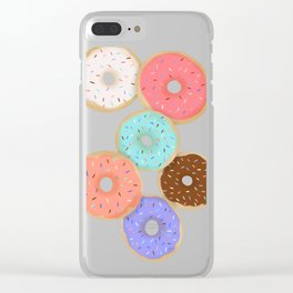 Sprinkle Donuts Clear iPhone Case