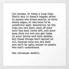 The Velveteen Rabbit, Art Print