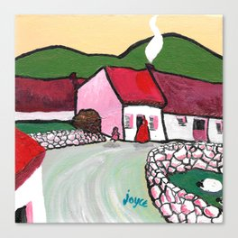 The West of Ireland - Getting the turf Canvas Print