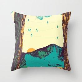 Upward over the Mountain: Sunrise Throw Pillow