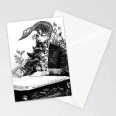 When I think about you, flowers grow out of my brain. Stationery Cards