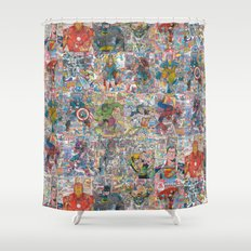 Vintage Comic Superheroes Galore (Limited Time) Shower Curtain