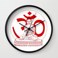 ohm Wall Clocks featuring OHM by Kyle Griffis Illustration