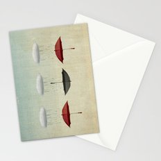 the umbrella filleth Stationery Cards