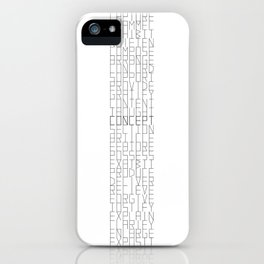 Words series - Hy[pon|per]nyms iPhone Case