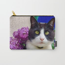 Orazio charming cat in the blue Carry-All Pouch