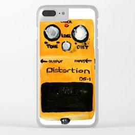 Guitar Distortion Pedal Acrylics On Paper (White Edit) Clear iPhone Case