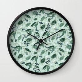 Endangered turtles Wall Clock