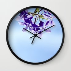 lost in blue Wall Clock