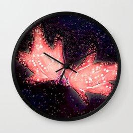 Decembrist flower. Cactus Schlumbergera truncata Wall Clock