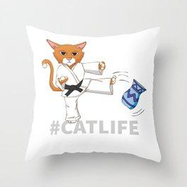 #Catlife Throw Pillow