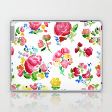 Watercolor Roses Laptop & iPad Skin