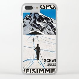 Wintersports Clear iPhone Case